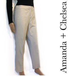 Cream-Colored Stretch Dress Pants